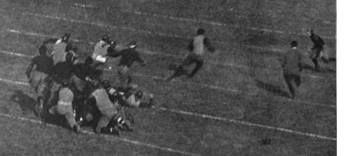 George Chadwick touchdown for Yale against Princeton in 1902