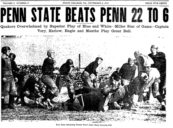 1911 Penn State over Penn in football
