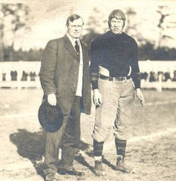 Springfield football coach James McCurdy and Carlisle halfback Jim Thorpe