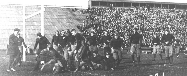 Michigan State's first touchdown in a 12-7 win over Michigan in 1913
