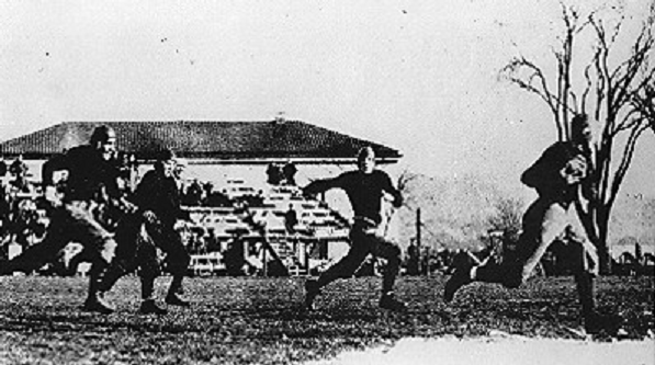 1913 Knute Rockne touchdown for Notre Dame against Army