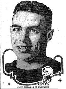 Georgetown halfback Johnny Gilroy