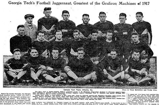 1917 Georgia Tech football team in NY Times