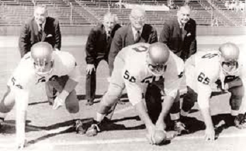 Four Horsemen of Notre Dame reunited for Notre Dame game at Stanford in 1963