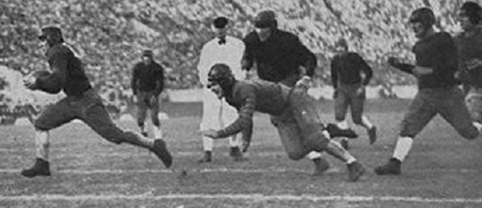 Georgia Tech halfback Stumpy Thomason's touchdown in the 1929 Rose Bowl