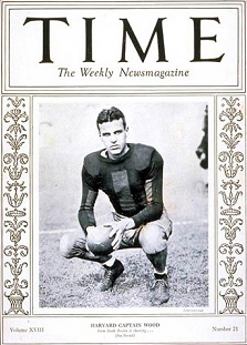 Harvard quarterback Barry Wood on the cover of Time magazine
