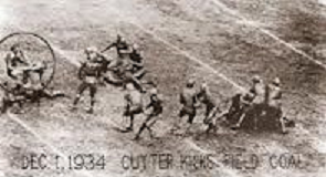 Navy tackle Slade Cutter's field goal that beat Army 3-0 in 1934