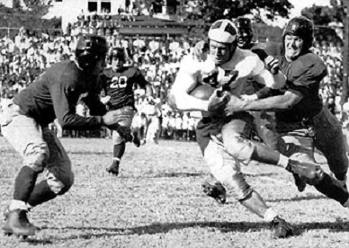 Texas A&M carrying against Tulane in the 1940 Sugar Bowl