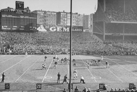 1946 Army-Notre Dame football game at Yankee Stadium