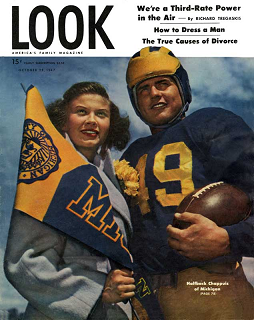 Michigan halfback Bob Chappuis on the cover of Look magazine in 1947