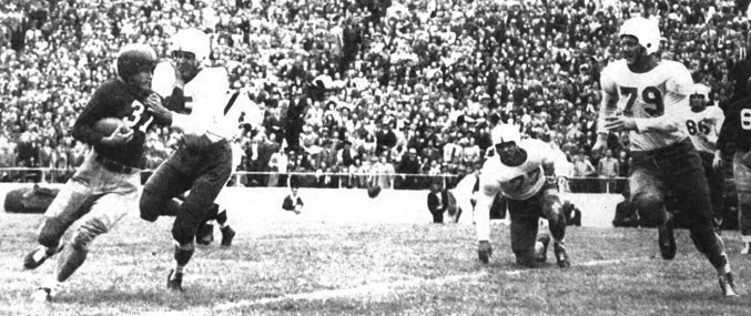 1947 Texas-SMU football game, Doak Walker carrying