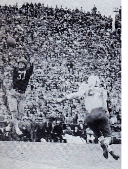 1947 Texas-SMU football game, Doak Walker catch to set up winning touchdown