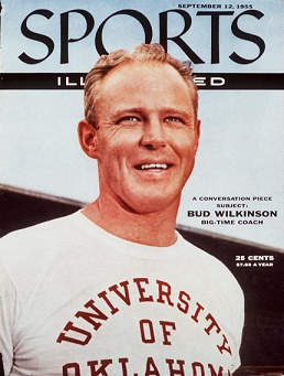 Oklahoma football coach Bud Wilkinson on the cover of Sports Illustrated in 1955