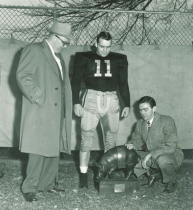 Iowa takes possession of Floyd of Rosedale in 1956