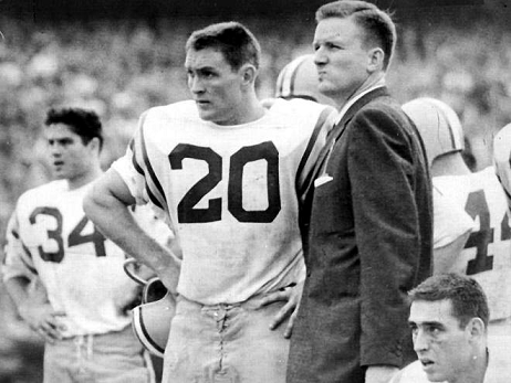 LSU halfback Billy Cannon and head coach Paul Dietzel
