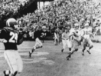 Mickey Mangham touchdown catch for LSU in 1959 Sugar Bowl