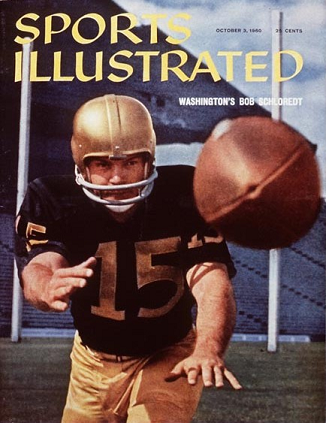 Washington quarterback Bob Schloredt on the cover of Sports Illustrated in 1960