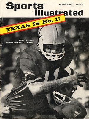 Texas football on the cover of Sports Illustrated in 1963