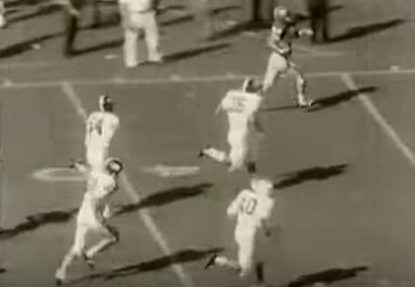 "Georgia's touchdown on ""flea-flicker"" play against Alabama in 1965"