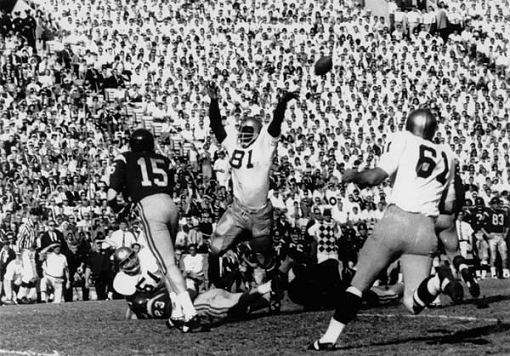 Notre Dame-Southern Cal football game in 1966