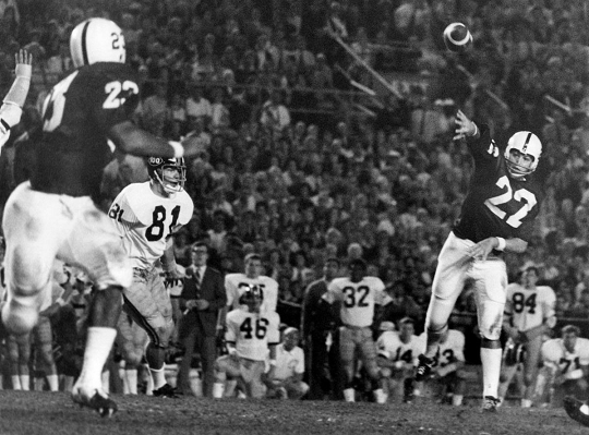 Penn State halfback Lydell Mitchell touchdown catch against Missouri in the 1970 Orange Bowl