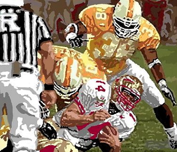 Tennessee sacks FSU's Outzen in 1998 championship game
