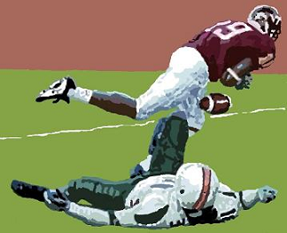 Virginia Tech's Ernest Wilford drops 2-point conversion pass against Miami in 2001