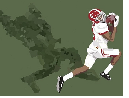 Alabama receiver DeVonta Smith catching the winning touchdown in the national championship game against Georgia