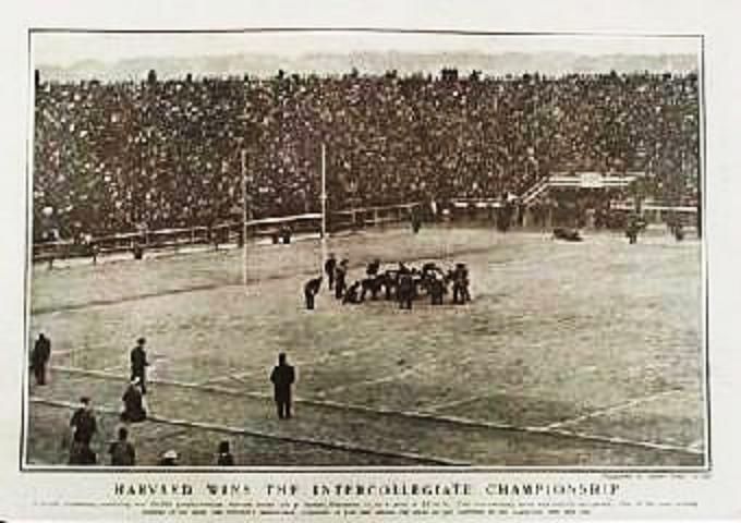 1901 Harvard-Yale football game in Harper's