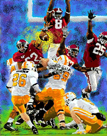 Terrence Cody blocks Tennessee field goal attempt 2009