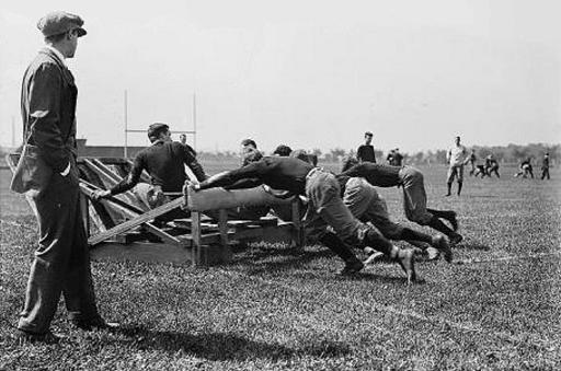 Harvard football practice 1910