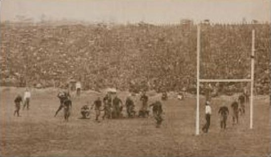 1913 Harvard's field goal to beat Princeton 3-0