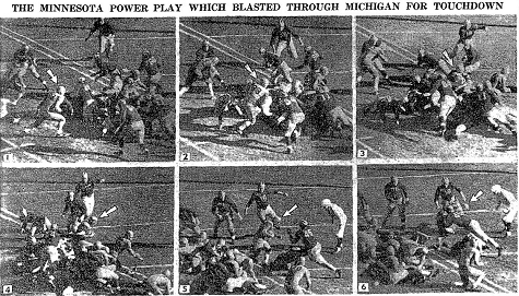 Minnesota's touchdown to beat Michigan 7-0 in 1941