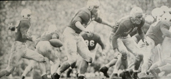 Georgia in the 1947 Sugar Bowl, facing North Carolina