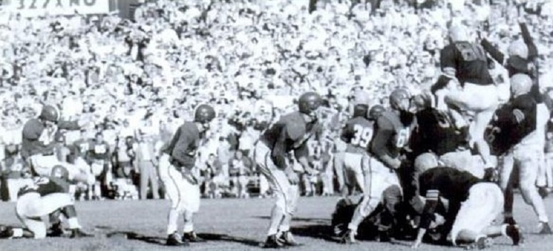 Michigan State field goal that beat Oregon State 17-14 in 1952